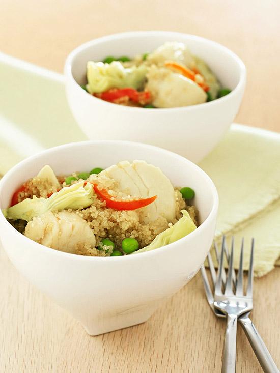 Scallop-Quinoa Paella