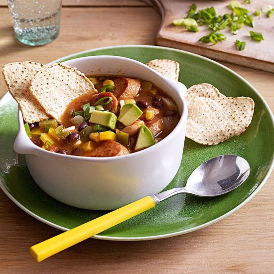 Sausage and Bean Tortilla Soup