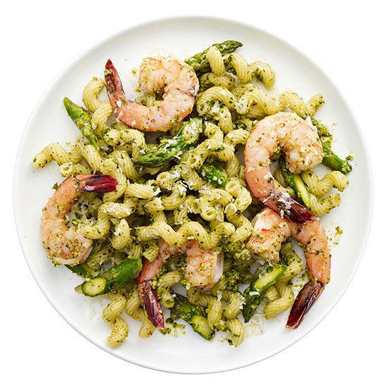 Shrimp Pesto Pasta Salad