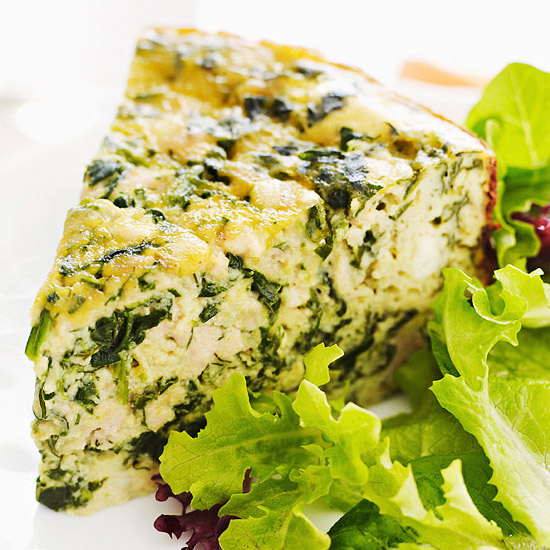 Slow-Cooker Spinach, Chicken and Feta Quiche