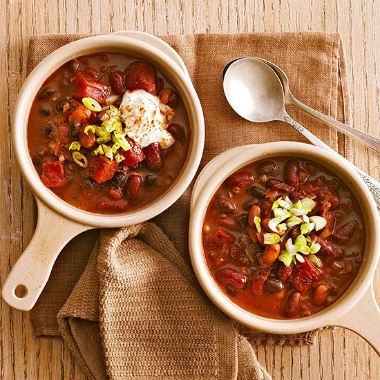 Slow Cooker Chili with Three Beans