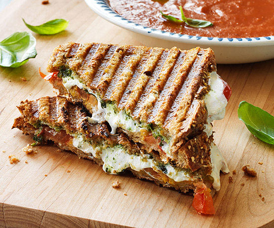 Tomato Soup and Grilled Cheese Panini