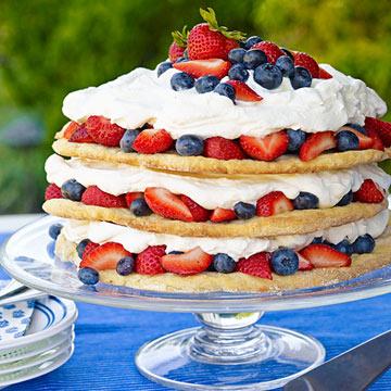 Blueberry-Strawberry Shortcake
