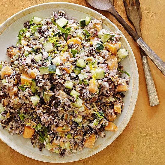 Wild Rice, Cantaloupe and Cucumber Salad