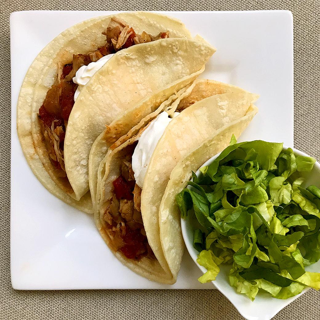 chicken tacos with corn tortillas