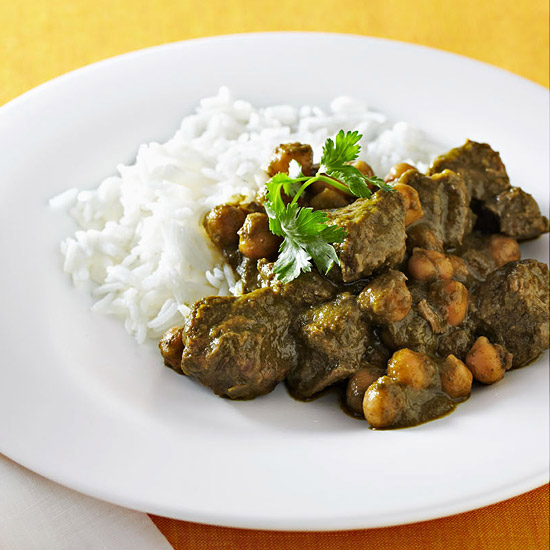 Slow Cooker Lamb & Cilantro Curry
