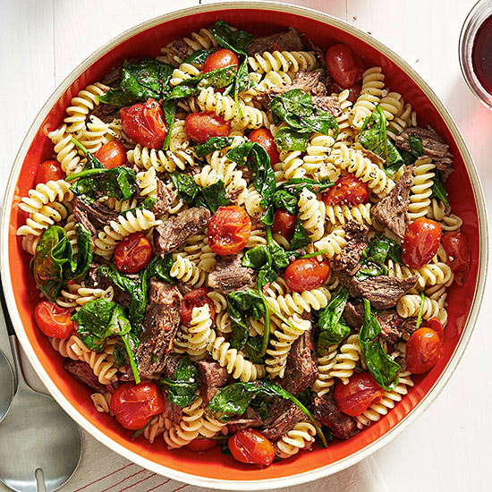 Slow Cooked Peppery Beef and Fusilli