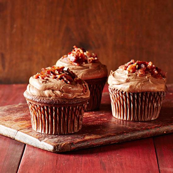 Bacon Chocolate Cupcakes