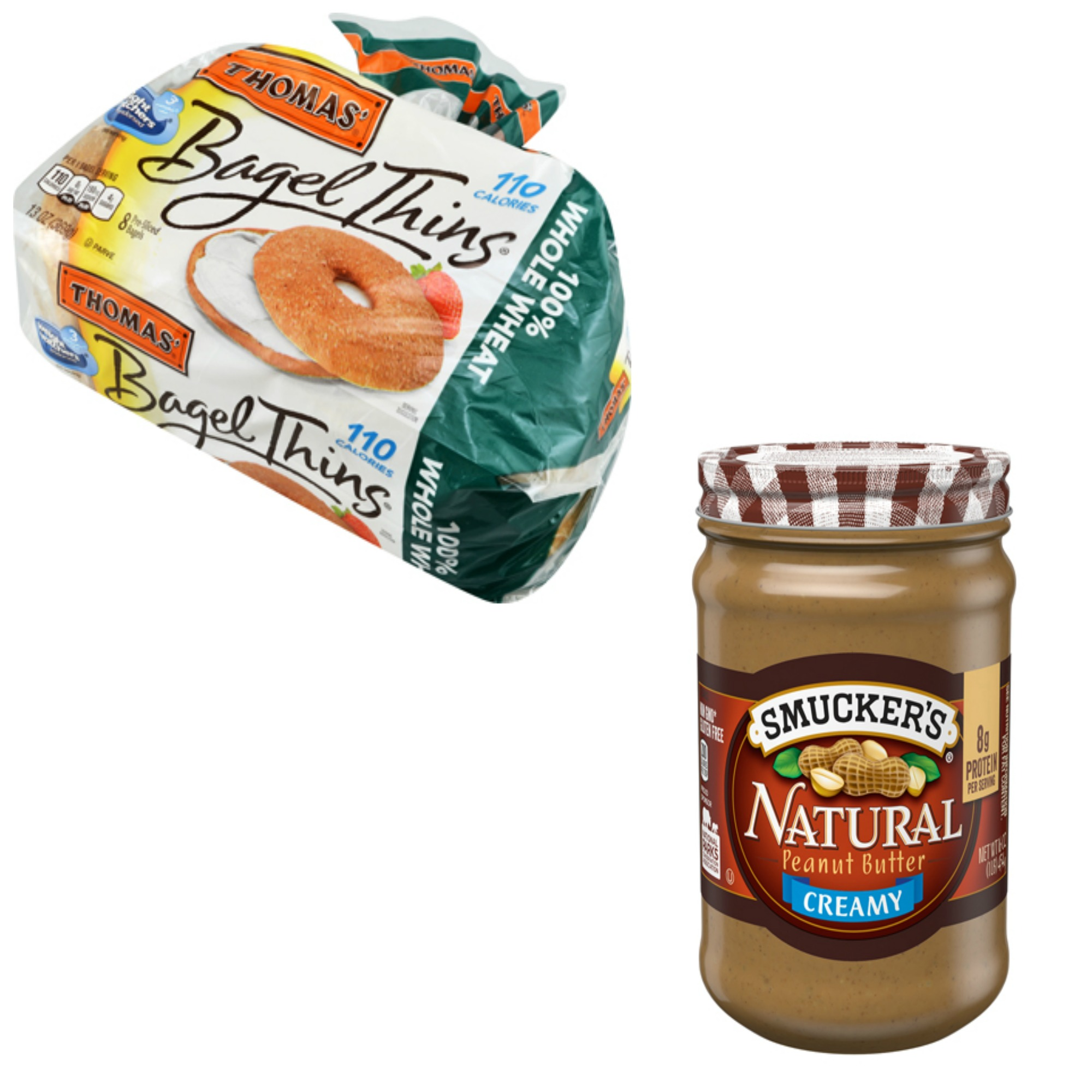 Bagel thins and Natural peanut butter.jpg