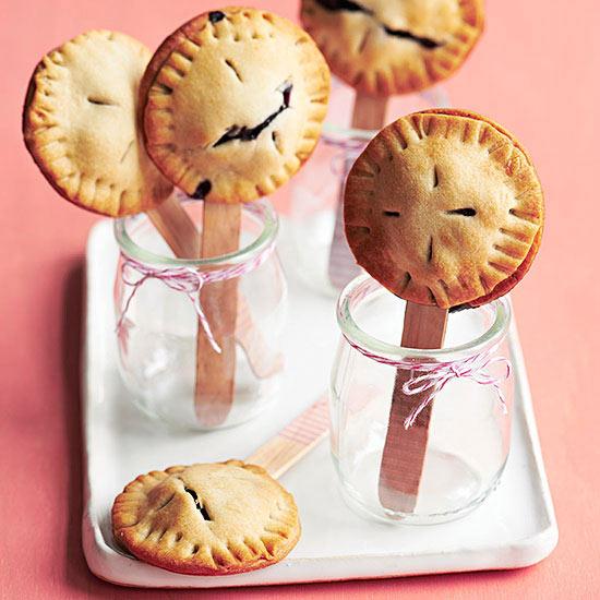Mini Blueberry Pie Pops