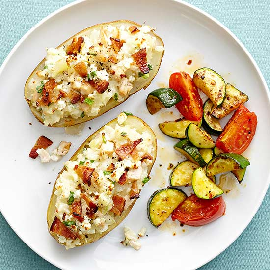 Chicken and Bacon Stuffed Potatoes