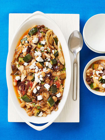 Mediterranean Roasted Vegetable and Chicken Chili