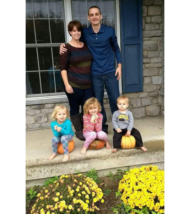 Debby Michael with kids and husband