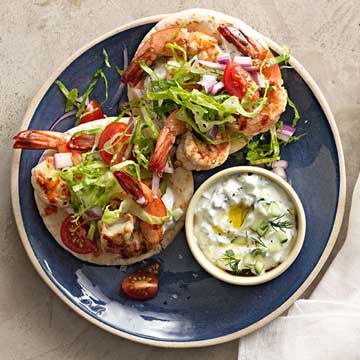 Grilled Shrimp Souvlaki