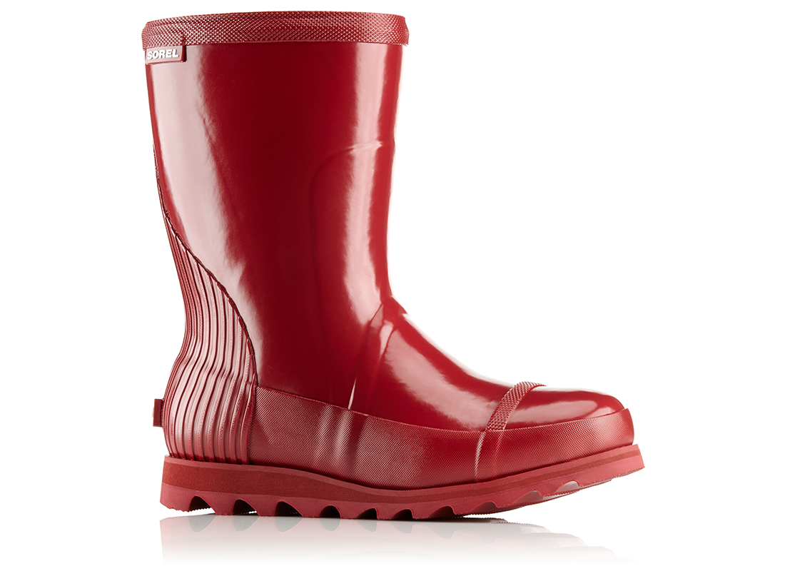 Sorel red rain boot