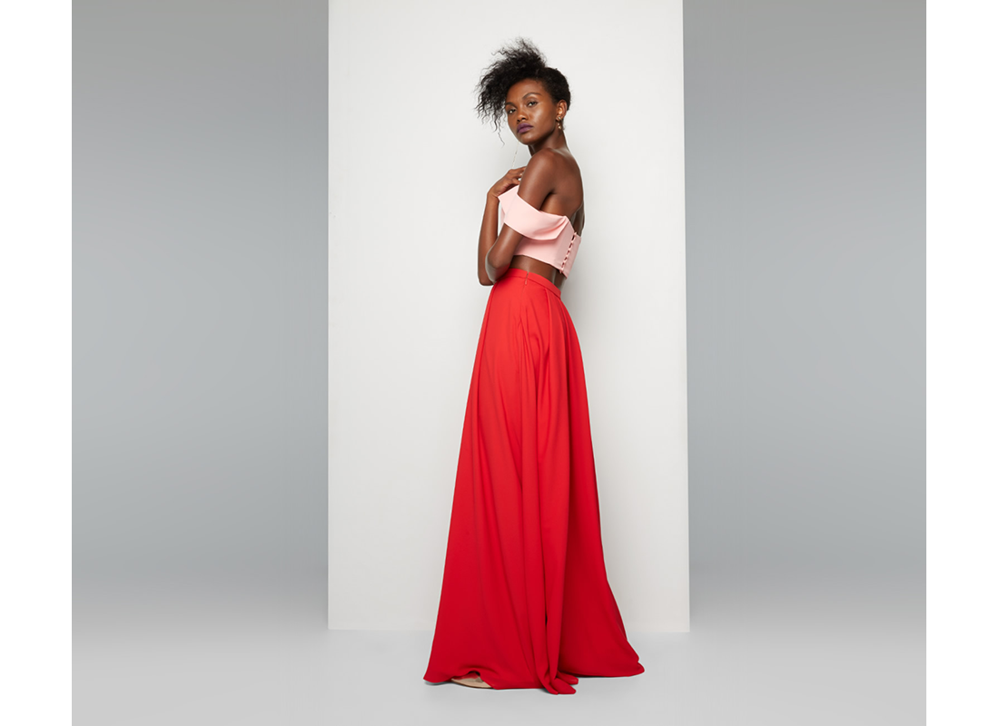 Fame and Partners two piece prom gown