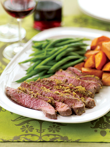 Roast Sirloin Steak with Indian Spices