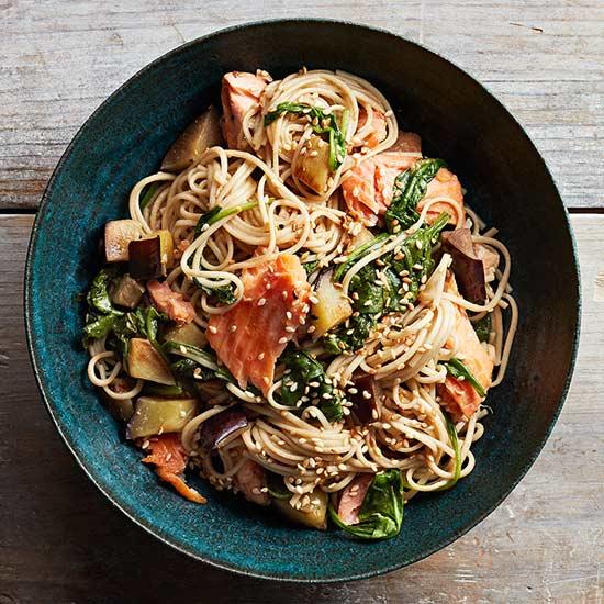 Miso-Glazed Salmon and Soba Bowl