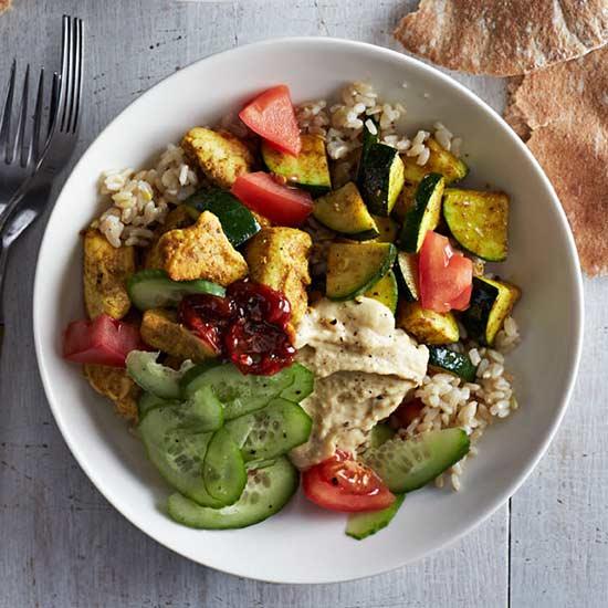 Chicken and Hummus Bowl