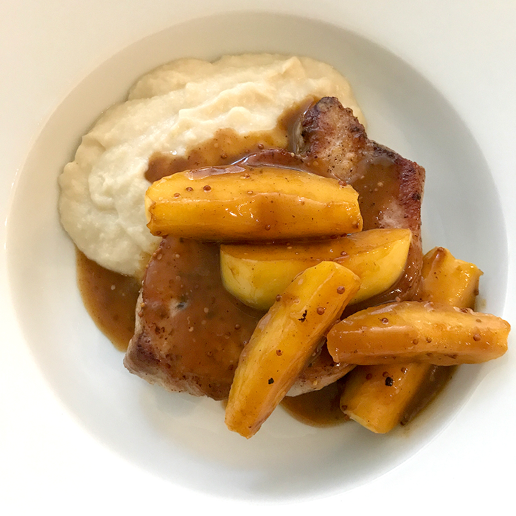 sauteed pork with apples and potatoes