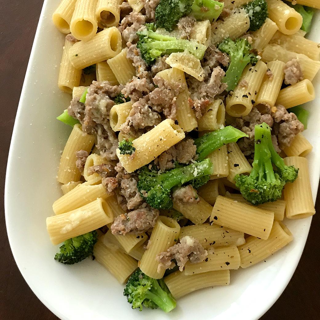 sausage and broccoli rigatoni