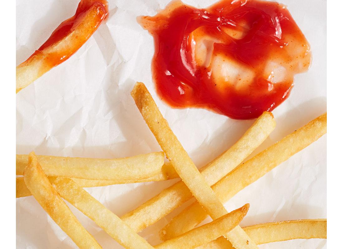 ketchup and fries