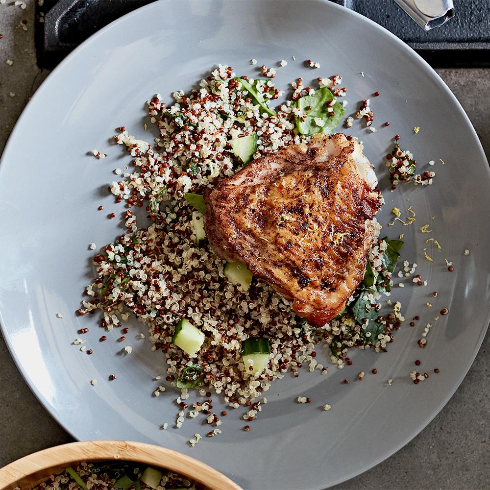 five-spice chicken and quinoa salad