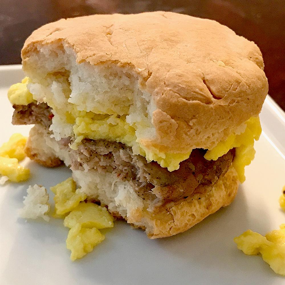 fluffy biscuit sandwich