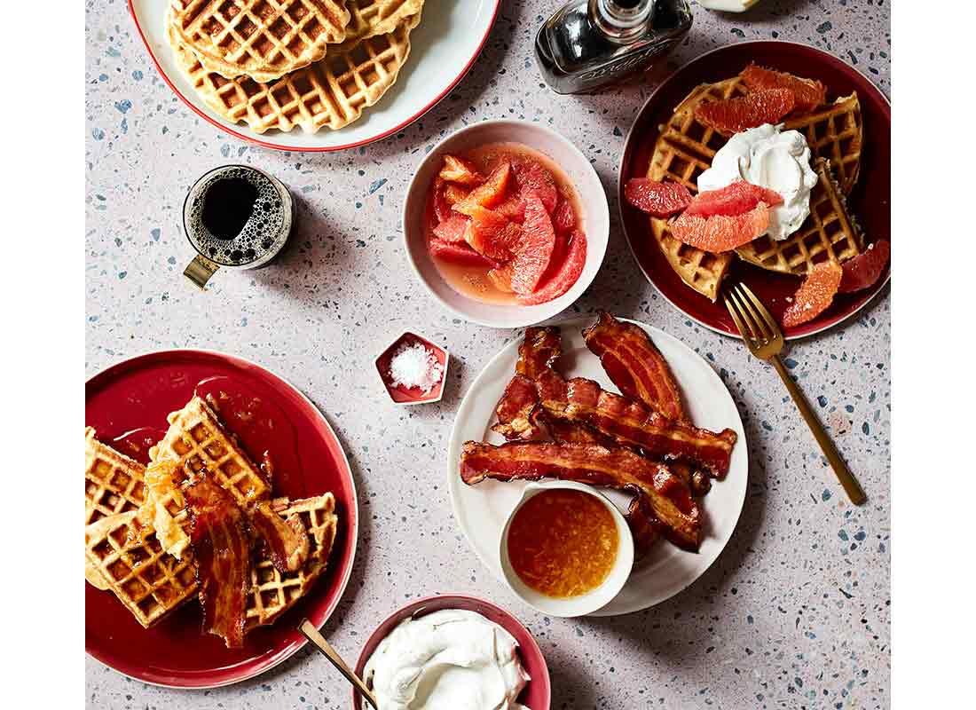 DIY Waffle Toppings Bar