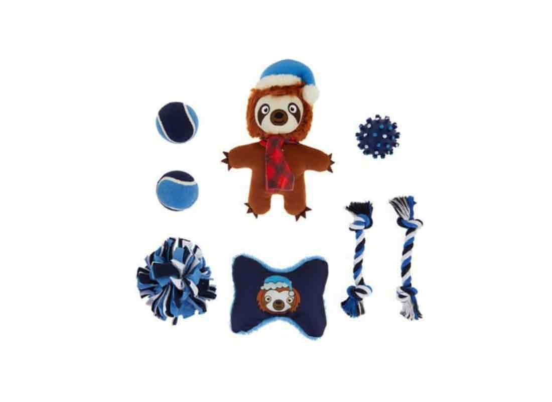 Holiday Sloth Dog Toys