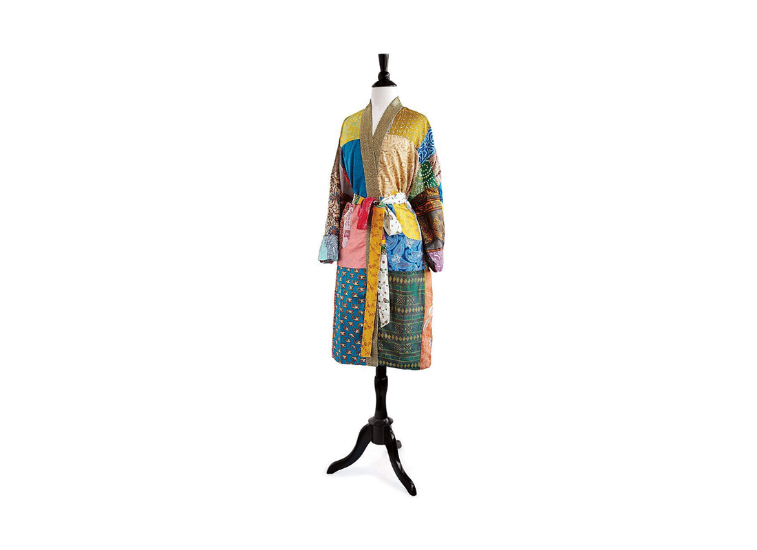 Upcycled Sari Lounge Robe
