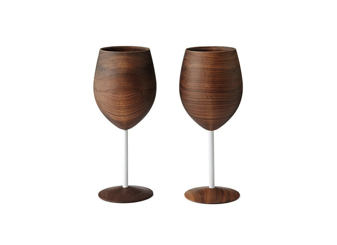 Wooden Wine Glasses - Set of 2