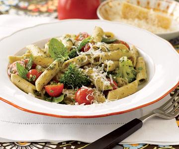 Penne Pesto with Veggies