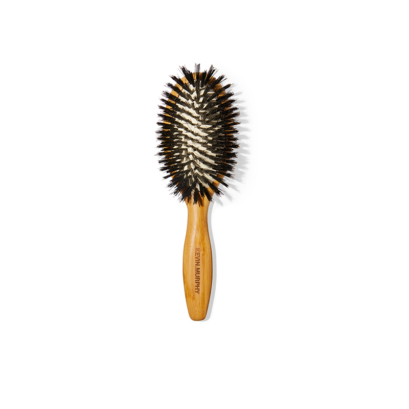 boar-bristle paddle brush for blowout