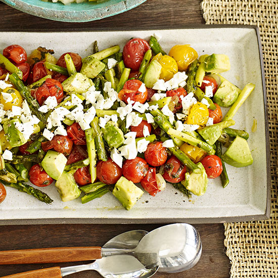 Avocado, Roasted Asparagus and Cherry Tomato Salad