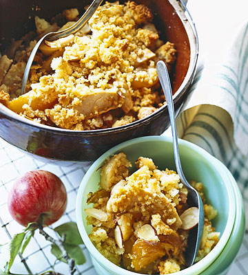 Apple And Apricot Betty