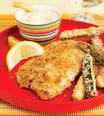 Fish and Zucchini Chips
