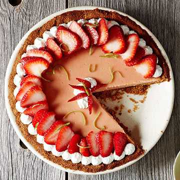 Strawberry Key Lime Pie