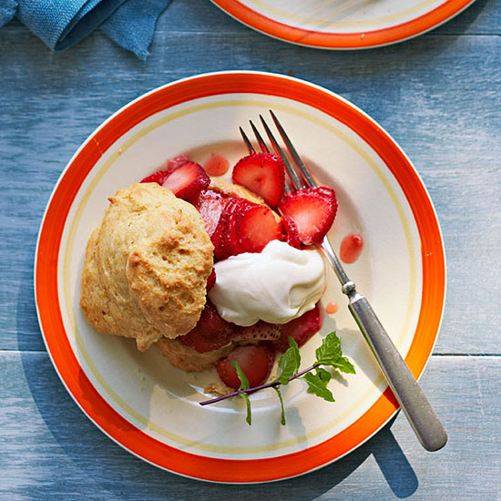 Strawberry Cornmeal Shortcake