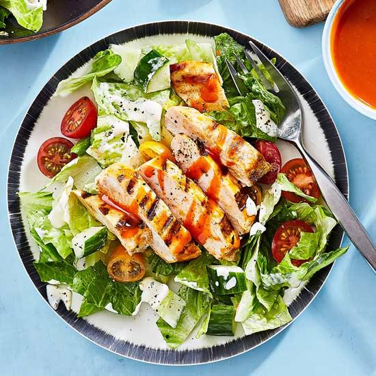 BBQ Buffalo Chicken Salad