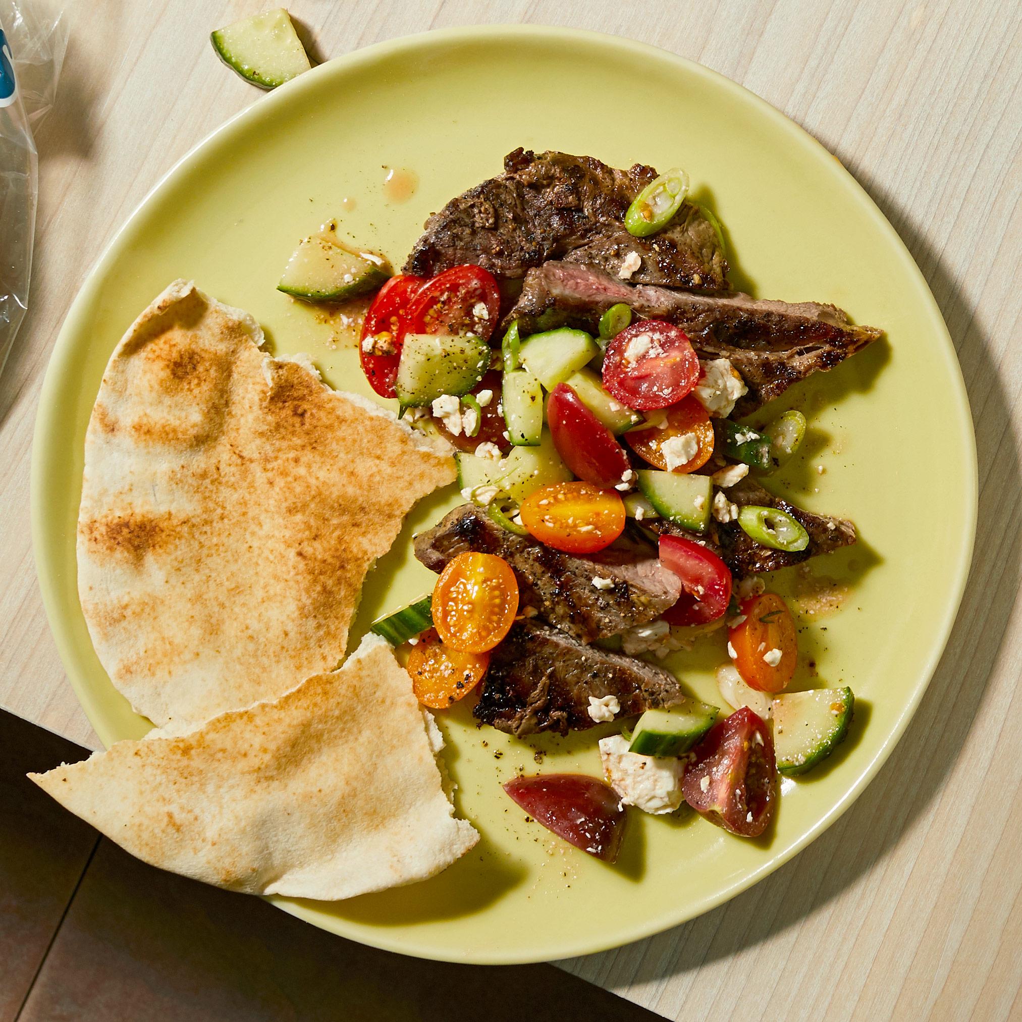 Greek Steak and Salad