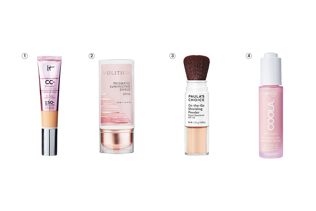 cosmetics with SPF