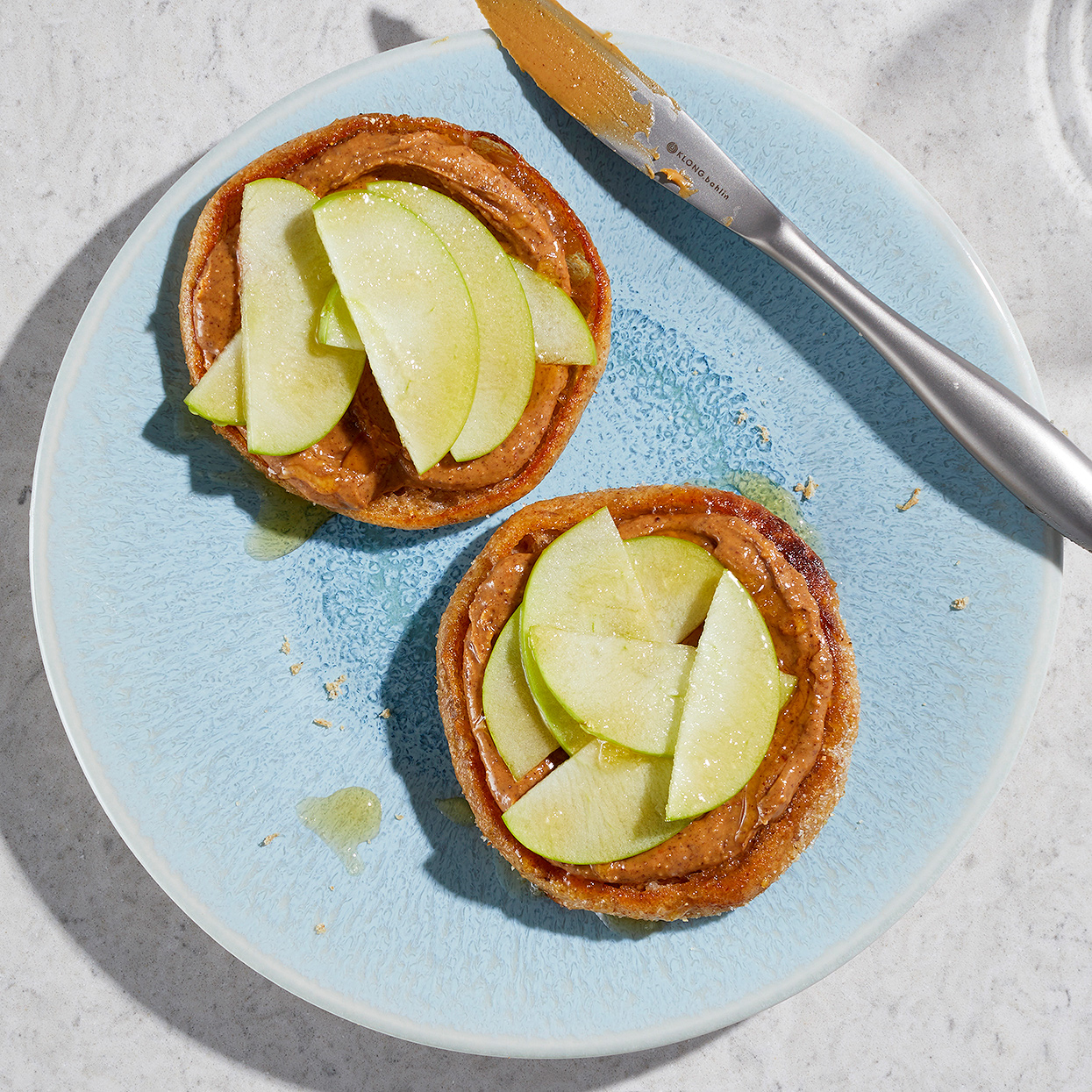 Apple and Almond Butter English Muffin