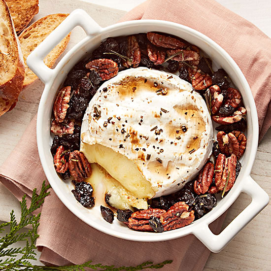 Maple-Baked Brie with Cherries and Pecans