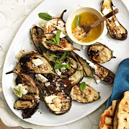 Grilled Eggplant with Mint Vinaigrette