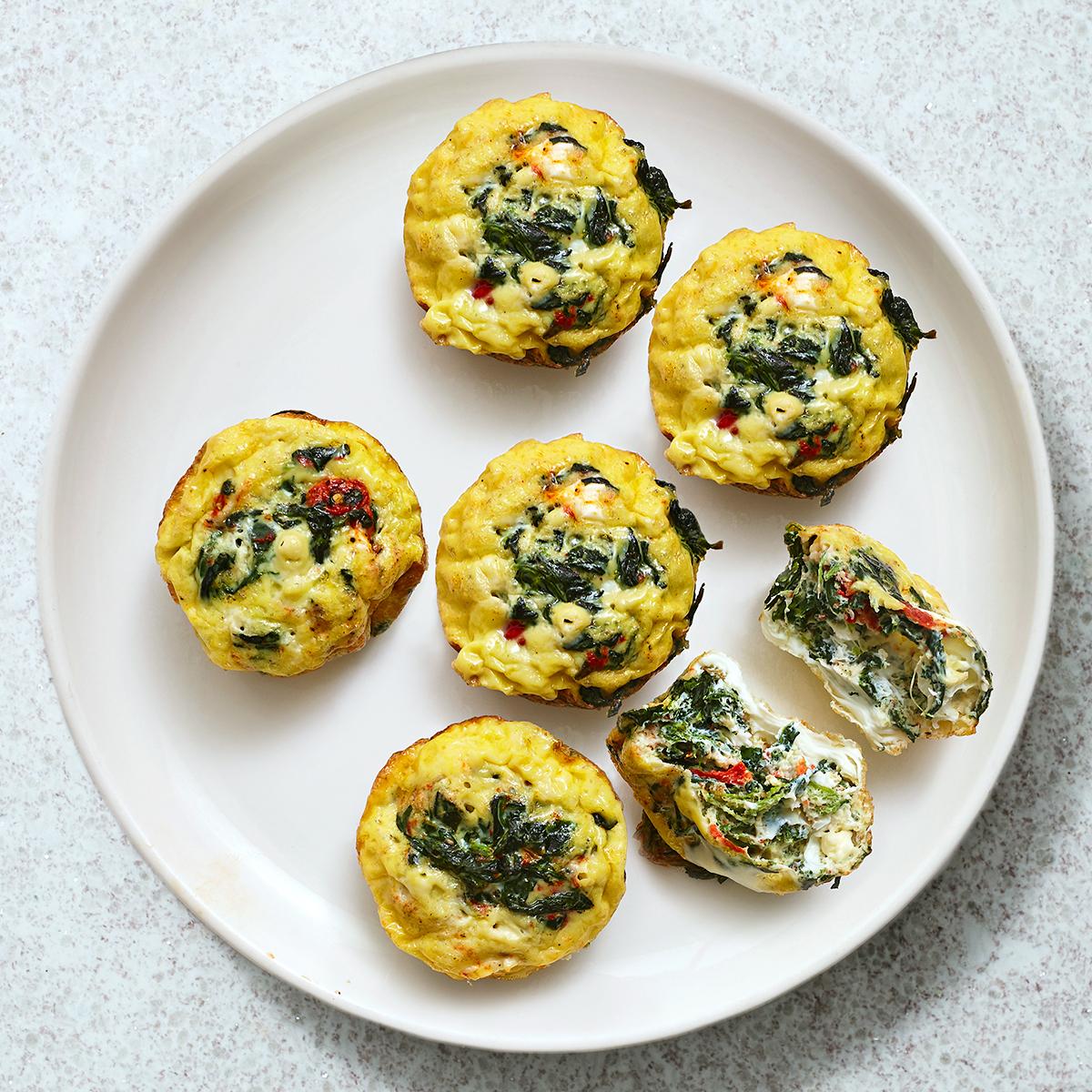 Veggie-Feta Egg Cups