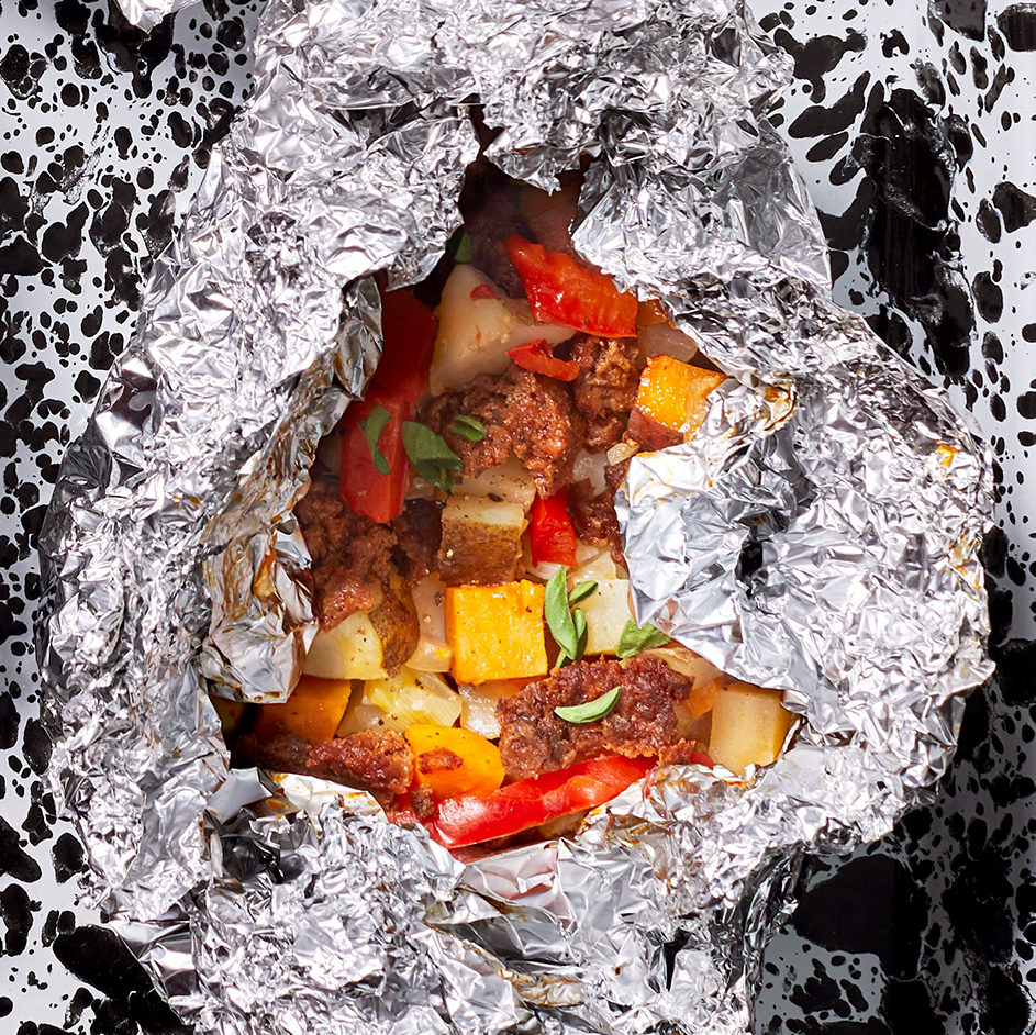 Chorizo and Potato Hobo Packs
