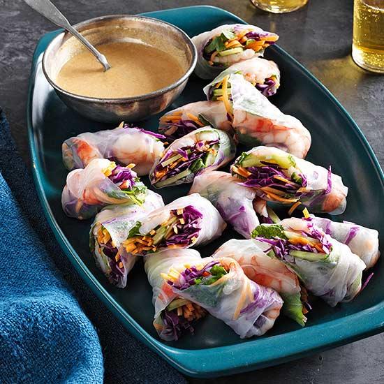 Shrimp and Veggie Rolls