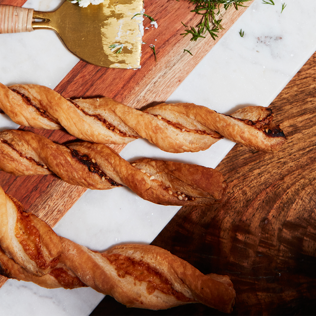 Gruyère-Cayenne Twists on table