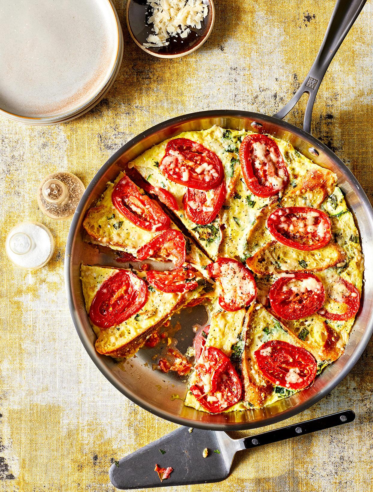 Tomato, Zucchini and Parmesan Fristrata